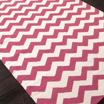 Davis Pink/Ivory Area Rug Rug Size: 2 x 3