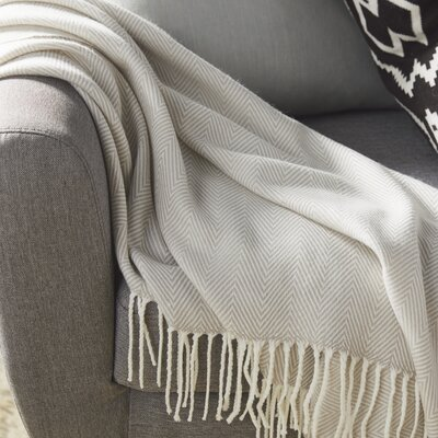 Elkins Park Throw Blanket Color: Gray