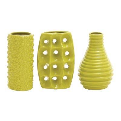 Bud Ceramic Vase Color: Yellow, Size: 8