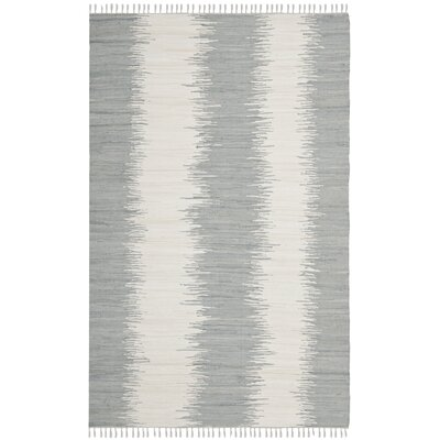 Lotie Grey Abstract Area Rug Rug Size: 4 x 6