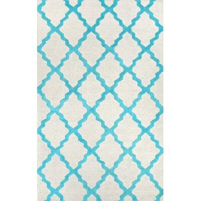 Tadlock Moroccan Trellis Turquoise Area Rug Rug Size: 36 x 56