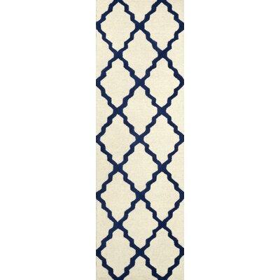 Tadlock Blue Moroccan Trellis Area Rug Rug Size: Runner 2'6