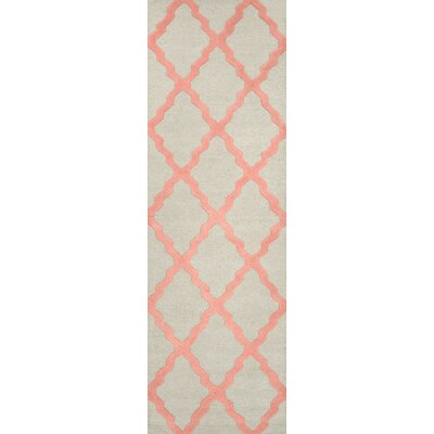 Tadlock Bubble Gum Moroccan Trellis Area Rug Rug Size: Runner 26 x 8
