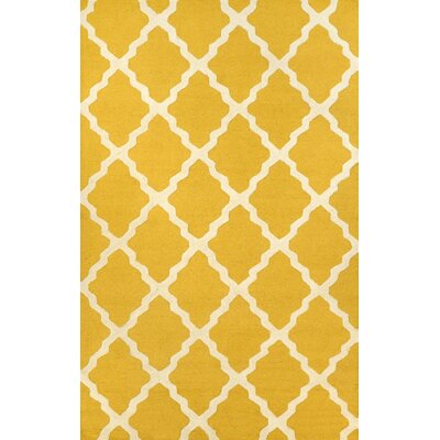 Tadlock Moroccan Trellis Handmade Gold Area Rug Rug Size: Rectangle 3'6