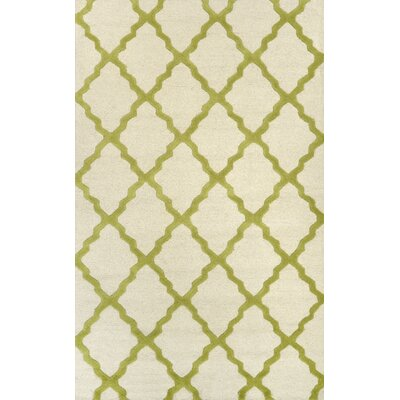 Tadlock Moroccan Trellis Green Area Rug Rug Size: Rectangle 76 x 96