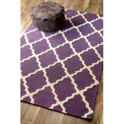 Tadlock Moroccan Trellis Handmade Purple Area Rug Rug Size: 76 x 96