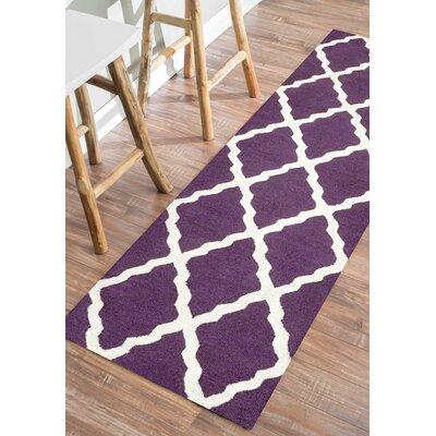Tadlock Purple Moroccan Trellis Area Rug Rug Size: 3'6
