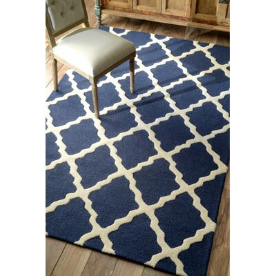 Bullock Moroccan Trellis Navy Area Rug Rug Size: Rectangle 6' x 9'