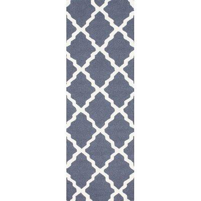 Terina Moroccan Trellis Kilim Charcoal Area Rug Rug Size: Runner 26 x 10