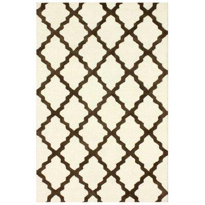 Simonds Moroccan Trellis Kilim Ivory Area Rug Rug Size: 36 x 56