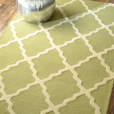 Simonds Moroccan Trellis Light Kilim Green Area Rug Rug Size: Runner 26 x 8