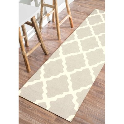 Terina Moroccan Trellis Kilim Tan Area Rug Rug Size: Rectangle 36 x 56