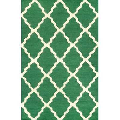 Tadlock Emerald Marrakech Trellis Rug Rug Size: Rectangle 76 x 96