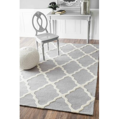 Tadlock Hand-Woven Light Gray Area Rug Rug Size: Runner 26 x 12