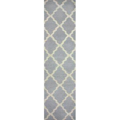 Tadlock Hand-Woven Gray Area Rug Rug Size: Runner 26 x 8