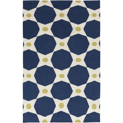 Donley Blue Midnight Geometric Area Rug Rug Size: Rectangle 2 x 3