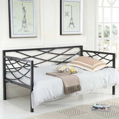 Carvell Metal Daybed Finish: Black
