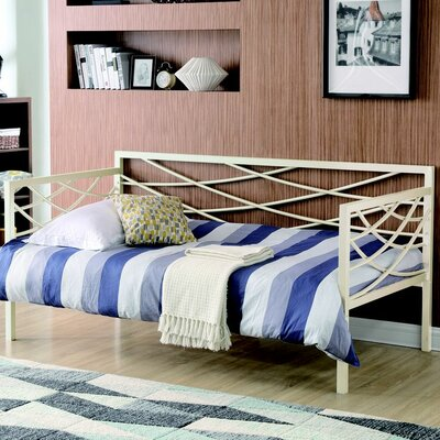 Carvell Metal Daybed Finish: Ivory