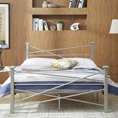 Herrod Metal Platform Bed Finish: Silver, Size: Queen
