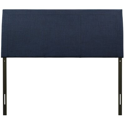 Bal Harbour Queen Upholstered Sleigh Headboard Upholstery: Navy