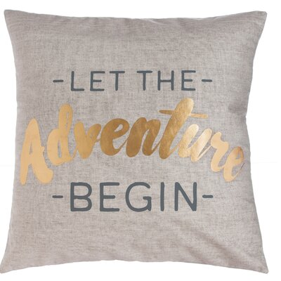 Sanchez Let the Adventure Begin Throw Pillow