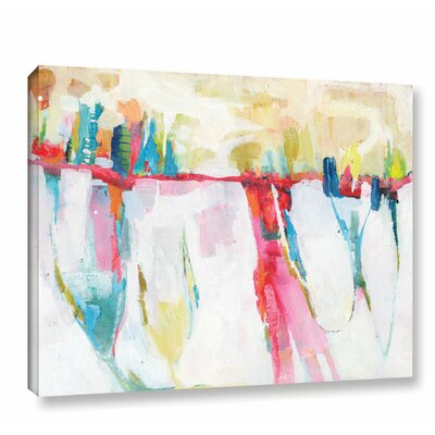 'Cityline Swing' by Donna Weathers Painting Print on Wrapped Canvas