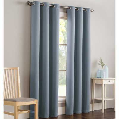 Mandurah Solid Blackout Grommet Single Curtain Panel