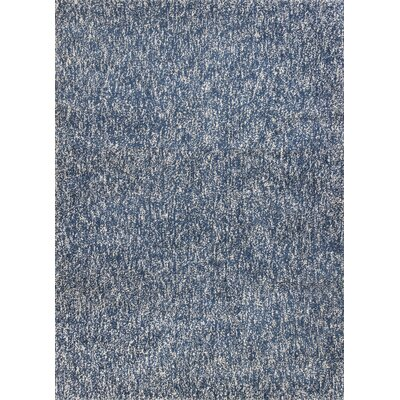 Bouvier Heather Hand-Woven Indigo/Ivory Area Rug Rug Size: Rectangle 23 x 39