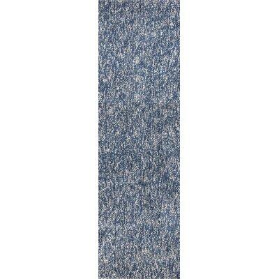 Bouvier Heather Hand-Woven Indigo/Ivory Area Rug Rug Size: Runner 23 x 76