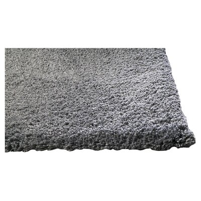 Shaggy Hand-Woven Gray Area Rug Rug Size: Rectangle 23 x 39