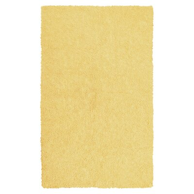Bouvier Canary Yellow Area Rug Rug Size: 76 x 96