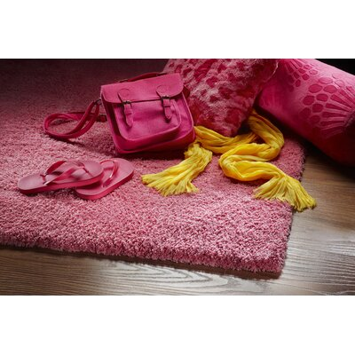 Bouvier Hot Pink Area Rug Rug Size: Rectangle 2'3