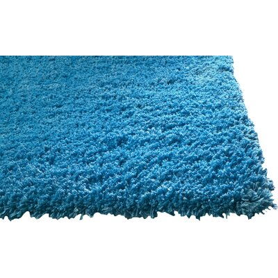 Bouvier Highlighter Blue Area Rug Rug Size: Round 6