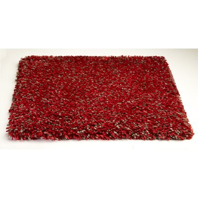 Bouvier Heather Red Area Rug Rug Size: 33 x 53