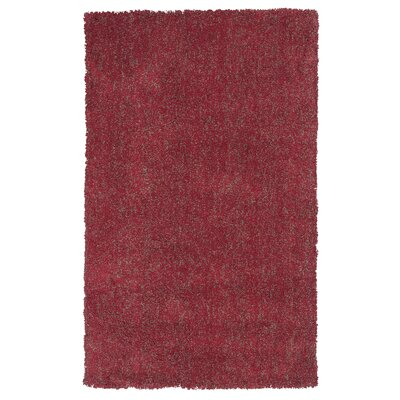 Bouvier Red Heather Area Rug Rug Size: Round 8