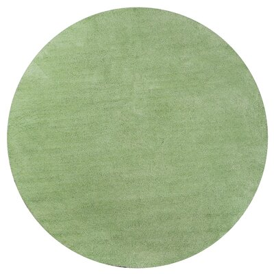 Bouvier Spearmint Green Area Rug Rug Size: Round 8