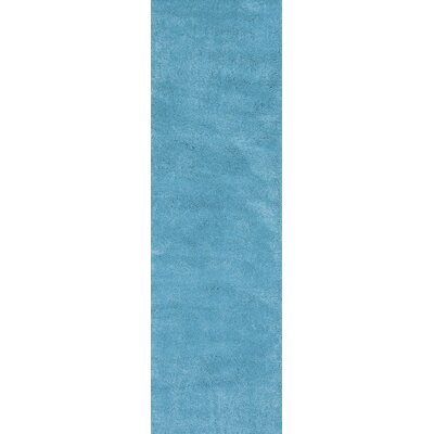 Bouvier Highlighter Blue Area Rug Rug Size: Runner 23 x 76