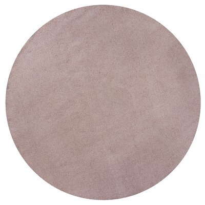 Bouvier Rose Pink Area Rug Rug Size: Round 8