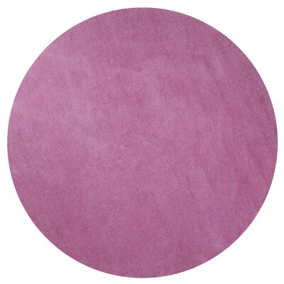 Bouvier Hot Pink Area Rug Rug Size: Round 8