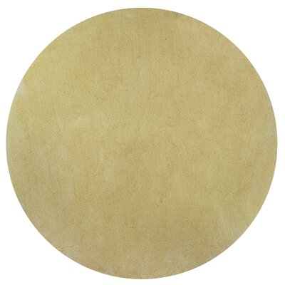 Bouvier Canary Yellow Area Rug Rug Size: Round 8