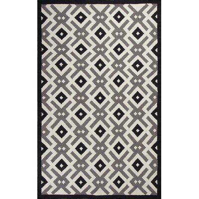 Hanscom Black/White Diamonds Area Rug Rug Size: 8 x 10