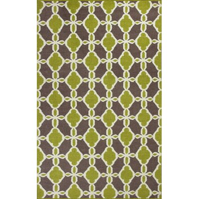 Hammack Citron/Taupe Serenity Area Rug Rug Size: 33 x 53