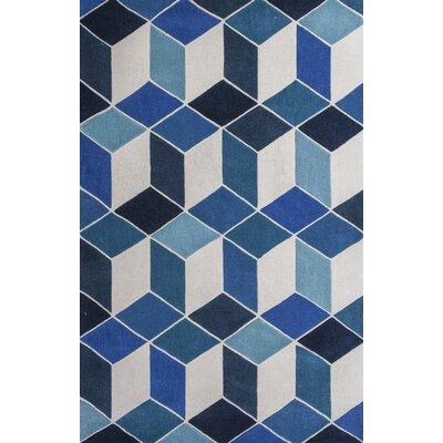 Henshaw Hand Woven Navy Area Rug Rug Size: 66 x 96
