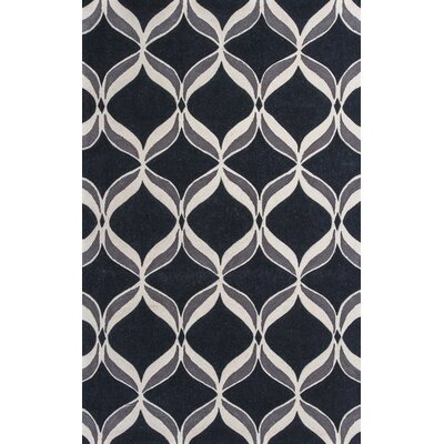 Henshaw Black Ribbons Area Rug Rug Size: 79 x 99