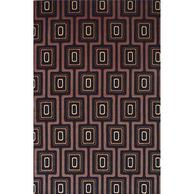 Geno Black City Grid Contemporary Rug Rug Size: 5 x 8