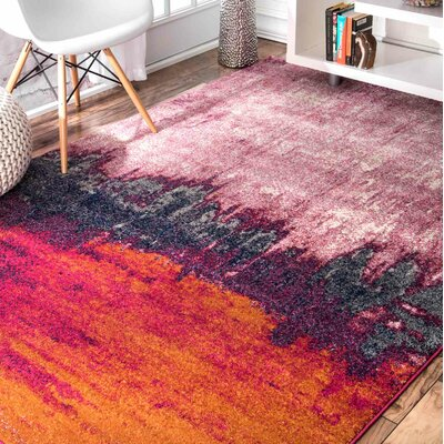 Gross Pink Area Rug Rug Size: 8 x 10