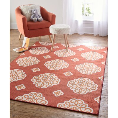 Shumake New Medallion Red Area Rug Rug Size: 76 x 10