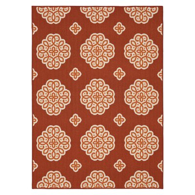 Shumake New Medallion Red Area Rug Rug Size: Rectangle 76 x 10