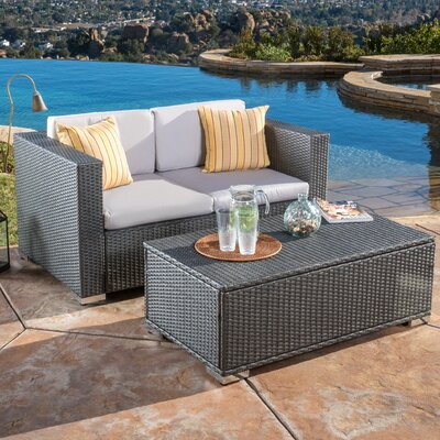 Tickenham 2 Piece Outdoor Sofa Set