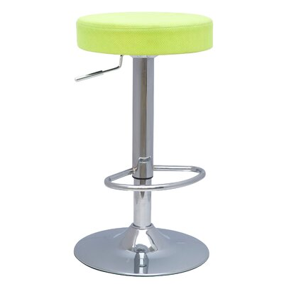 Tiffin Adjustable Height Bar Stool Upholstery: Mesh Lime